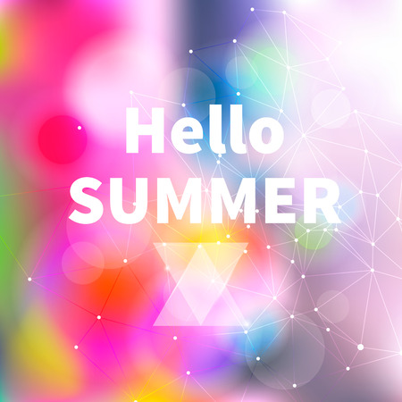 Summer Bright Abstract Blurry Background