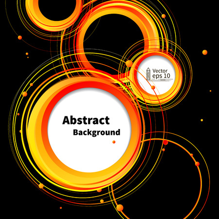 Abstract Circles background  summer poster  vector Vector