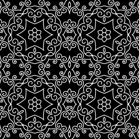 Beautiful Damask backgrounds,seamless patterns, vector Vector