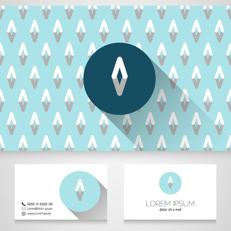 Icon design element with business card template, vector Vector