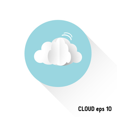 Vector clouds webdesign, paper flat style, vector illustration Vector