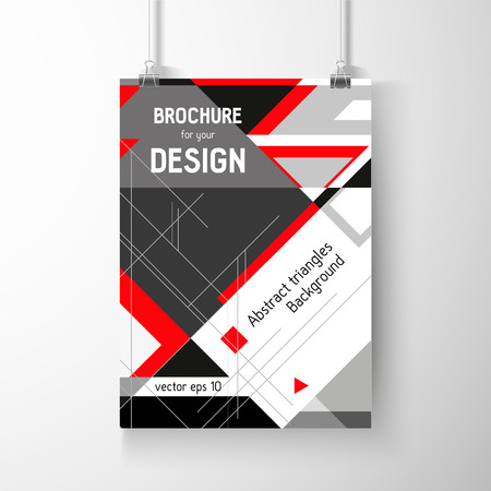 Business brochure background. Layer template , vector Vector