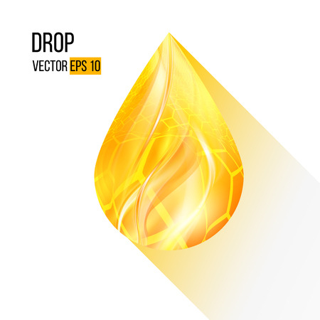 Vector illustration of a single Golden drop Vector