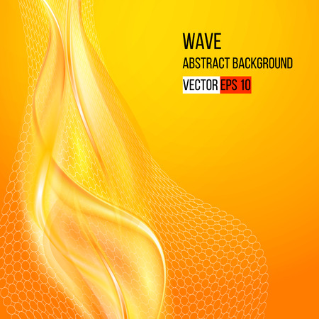 Colorful smooth light lines background  Vector illustration Vectores