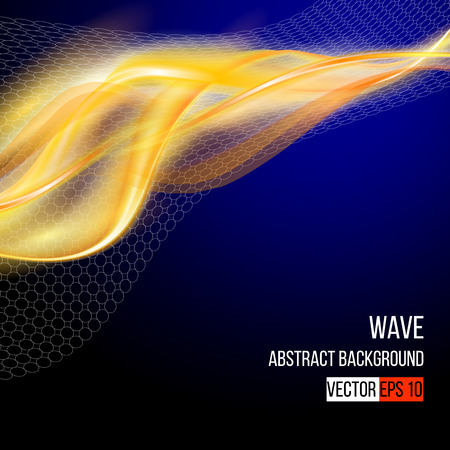 dynamic background: Colorful smooth lines, dynamic background  Vector illustration