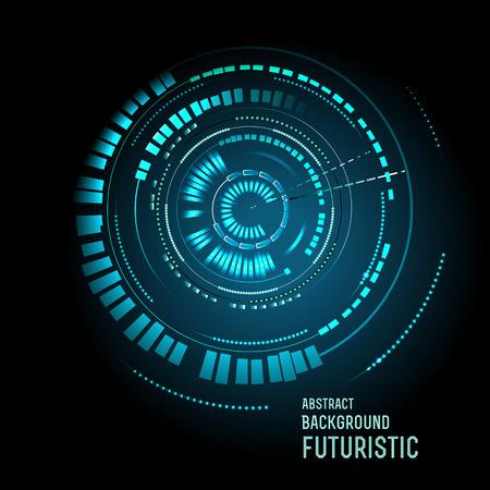 illustration of Futuristic interface, HUD,  sci-fi  background, vector