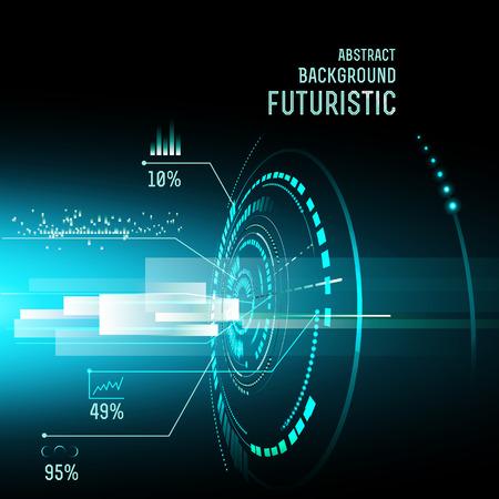 illustration of Futuristic interface, technology vector, sci-fi  background