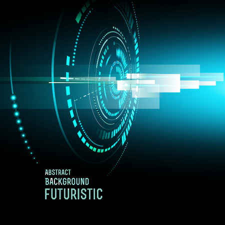 perpective: illustration of Futuristic interface, technology vector, sci-fi  background