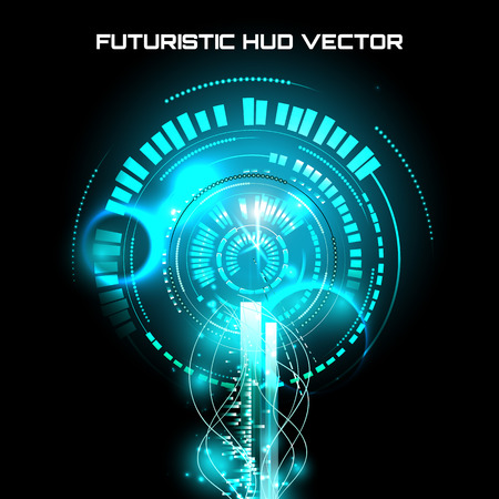 touch screen interface: illustration of Futuristic interface, HUD,  sci-fi  background, vector