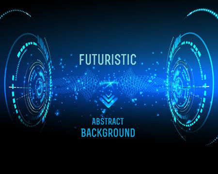 illustratie van futuristische interface, technologie vector, sci-fi achtergrond Stock Illustratie