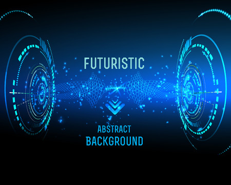 futuristic interface: illustration of Futuristic interface, technology vector, sci-fi  background