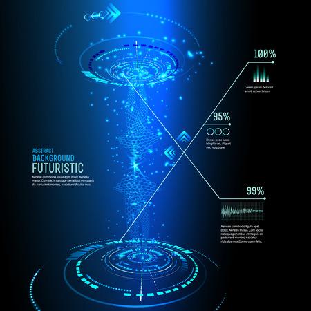 raumschiff: Illustration der futuristischen Schnittstelle, Technologie Vektor, Science-Fiction-Hintergrund