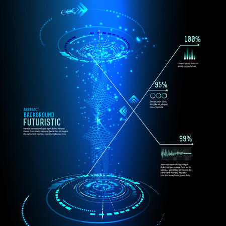 touch screen interface: illustration of Futuristic interface, technology vector, sci-fi  background