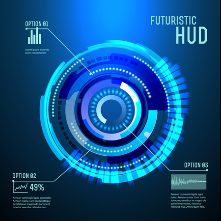 perpective: illustration of Futuristic interface,imfographic for technology vector, sci-fi  background