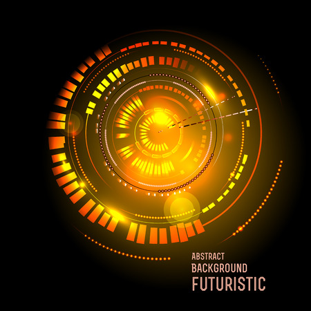future business: illustration of Futuristic interface, HUD,  sci-fi  background, vector