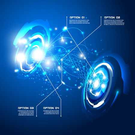 illustration of Futuristic interface,imfographic for technology vector, sci-fi  background