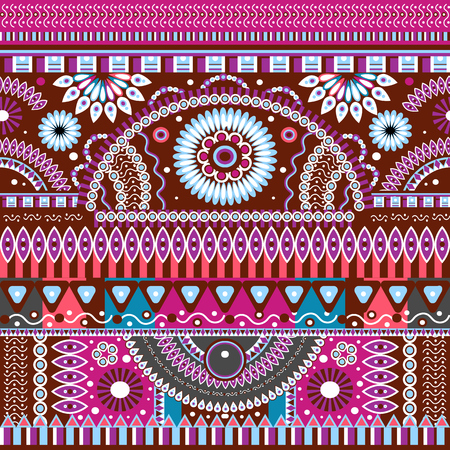 art and craft: Abstract seamless  tribal ethnic background Illustration