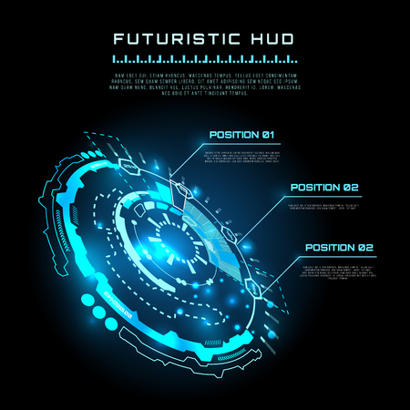 touch screen interface: vector  illustration of Futuristic interface infographics, HUD,  vector background Illustration