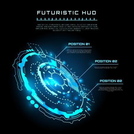 futuristic: vector  illustration of Futuristic interface infographics, HUD,  vector background Illustration