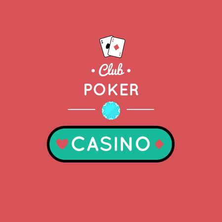 poker chip: illustration of Casino, Poker, chip design with card . Illustration