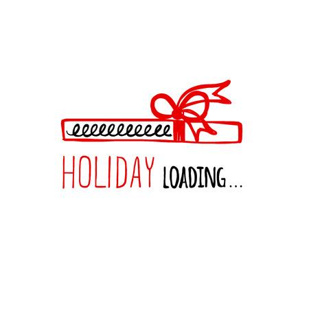 positiveness: Vector illustration of Holiday loading. Progress bar design. Christmas. Vector illustration.