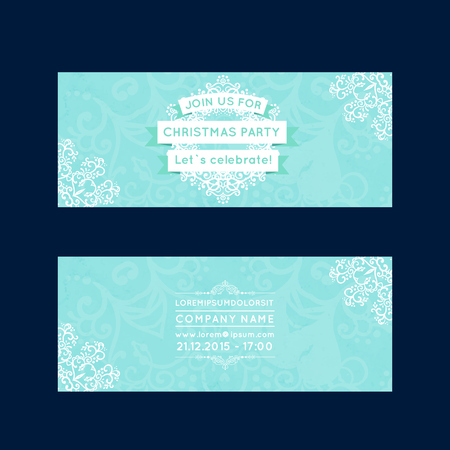 invitation of Merry Christmas and Happy New Year party, Card , vector