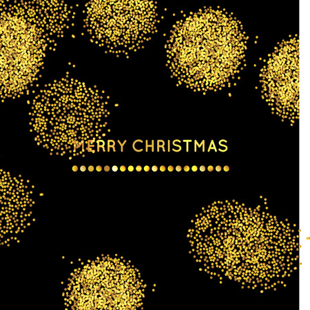 gold christmas background: gold sparkle glitter  vector  background with  Merry Christmas greeting.