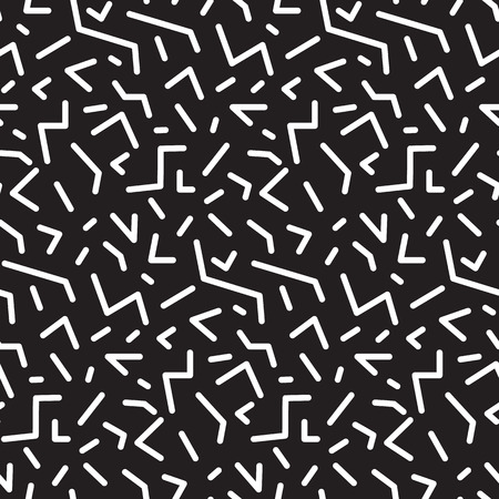 nineties: Seamless abstract geometric pattern in retro memphis style, fashion 80-90s. It can be used in printing, website backdrop and fabric design.
