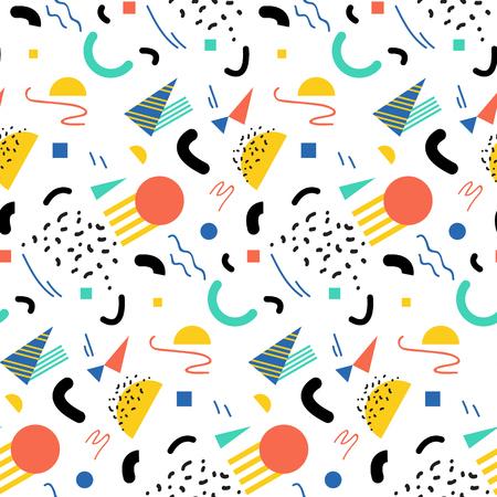 memphis: Seamless geometric pattern in retro 80s style, memphis Illustration