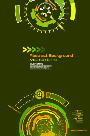 high tech design: sci-fi abstract background for futuristic high tech design - vector