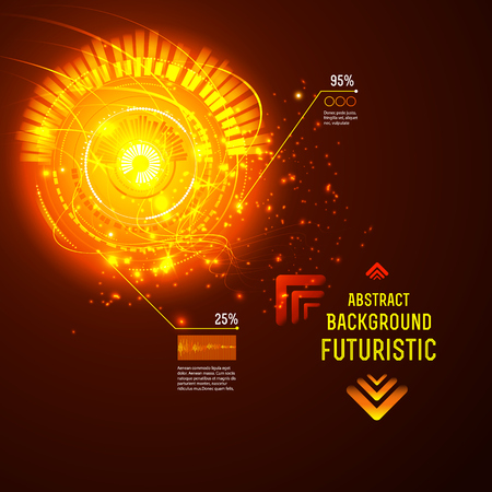 sci: Sci fi Futuristic user interface, HUD, technology vector background
