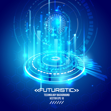 Futuristic interface, HUD, vector background