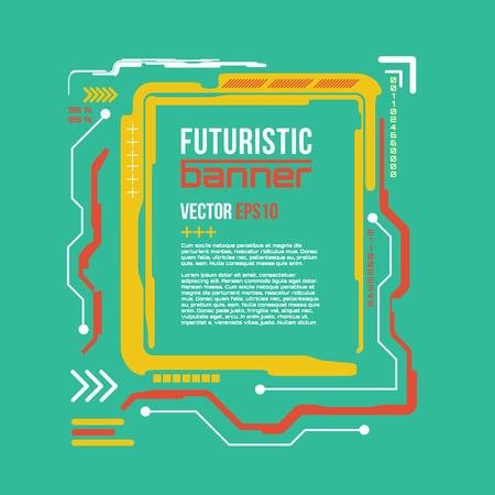 techno background: Futuristic banner, Modern techno background.