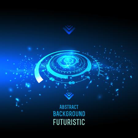 abstrait pour la conception futuriste high tech - vecteur