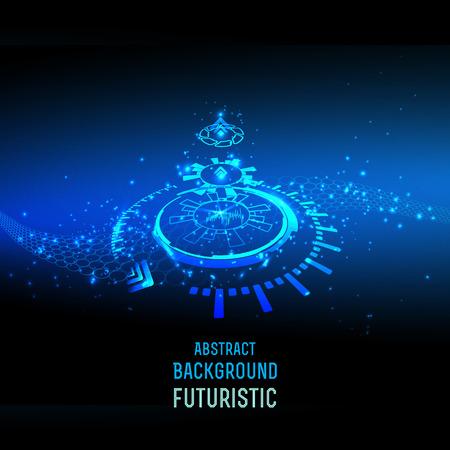 futuristic: abstract background for futuristic high tech design - vector