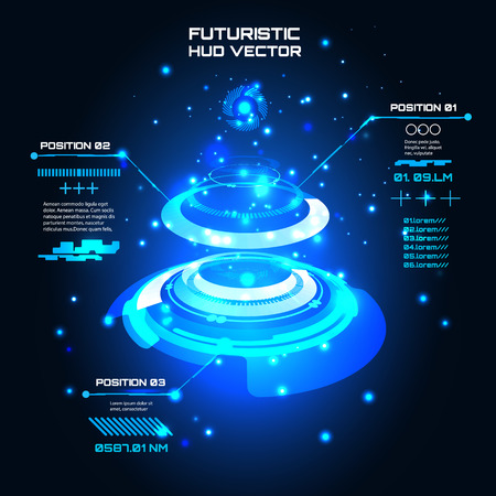 Sci fi Futuristic user interface, infographics, HUD, technology vector background