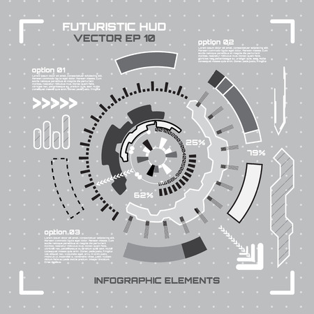 sci: Sci fi futuristic user interface. Vector illustration.