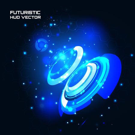 sci fi: Sci fi Futuristic user interface, HUD, technology vector background