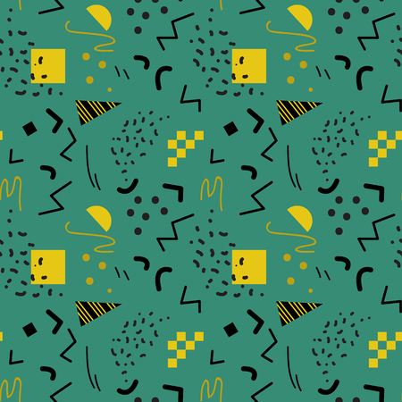 '80s: Seamless geometric pattern in retro 80s style, memphis, vector. Illustration