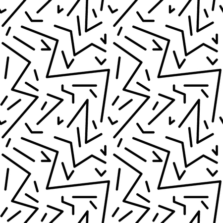the nineties: Seamless geometric vintage pattern in retro 80s style, memphis. Ideal for fabric design, paper print and website backdrop.