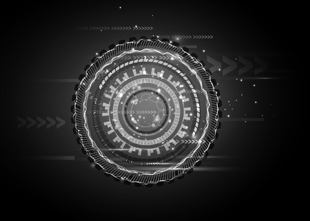 Sci fi futuristic user interface. hi-tech computer digital technology concept, Vector illustration.