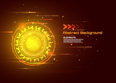 sci fi: Sci fi futuristic user interface. hi-tech computer digital technology concept, Vector illustration.