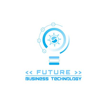 Iconos del elemento de futuros, logotipo de la empresa, la tecnología del vector