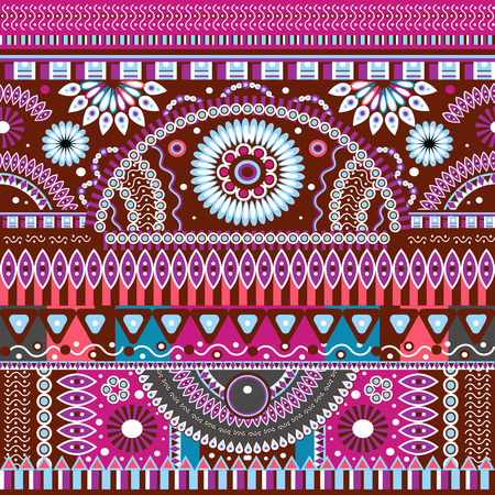 bright color: Abstract seamless  tribal ethnic background, ethno , vector