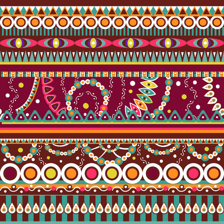 ethno: Abstract seamless  tribal ethnic background, ethno , vector