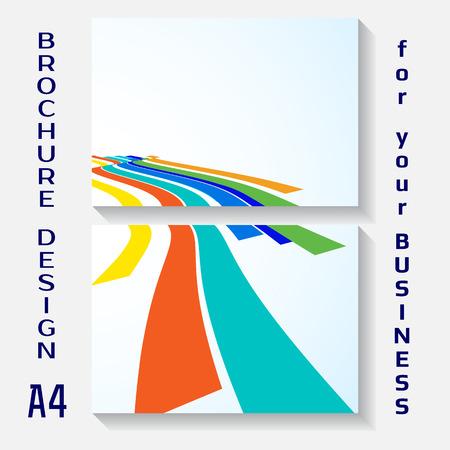 a4: Vector illustration of brochure template design. A4 poster Illustration