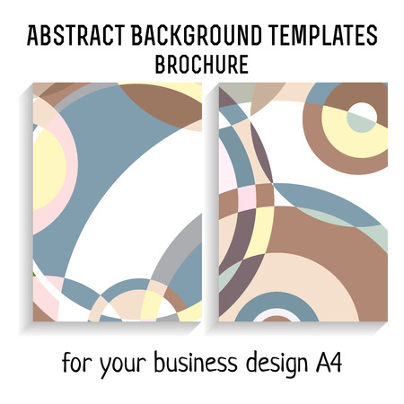 a4: Vector  brochure template design with circles elements. A4 poster.