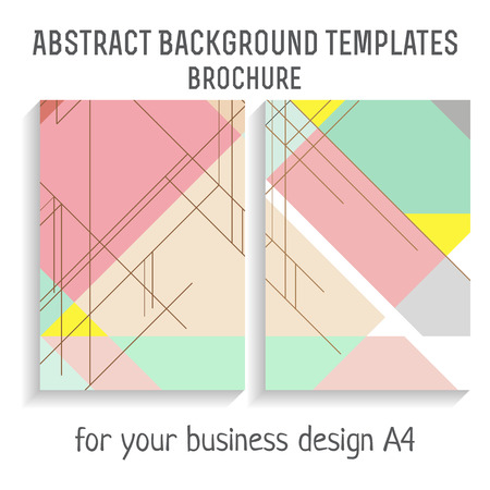 a4: Vector  brochure template design with line elements. A4 poster. Illustration