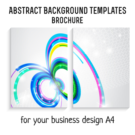 a4: Vector  brochure template design with technology , line elements. A4 poster. Illustration