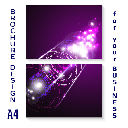a4: Vector brochure template design with futuristic elements. A4 poster.